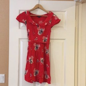 American Eagle Outfitters Red Floral Dress